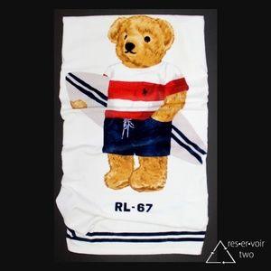 Polo Bear Ralph Lauren Beach Towel Boy Surfboard